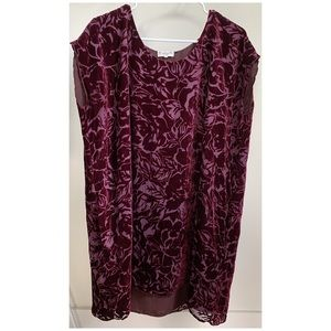 Aritzia Wilfred silk Bouchette velvet floral dress